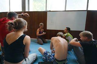 Mokymus ved  ffme jaunių trenerė Marianne Berger